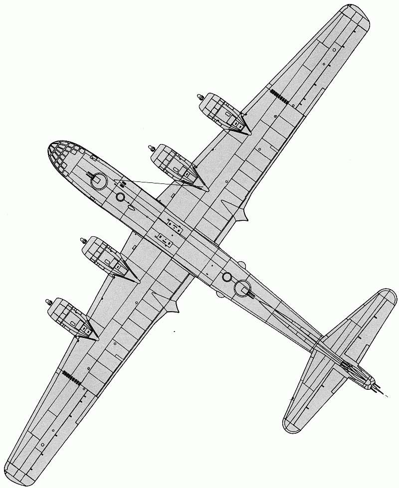 Схема Boeing B-29 Superfortress