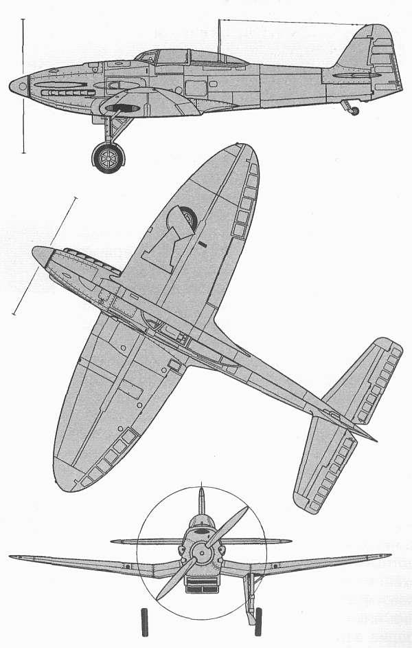 Схемы и чертежи самолёта Хейнкель He-112B.