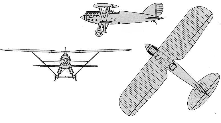 Чертежи и схемы самолёта Ньюпор-Деляж NiD.62.
