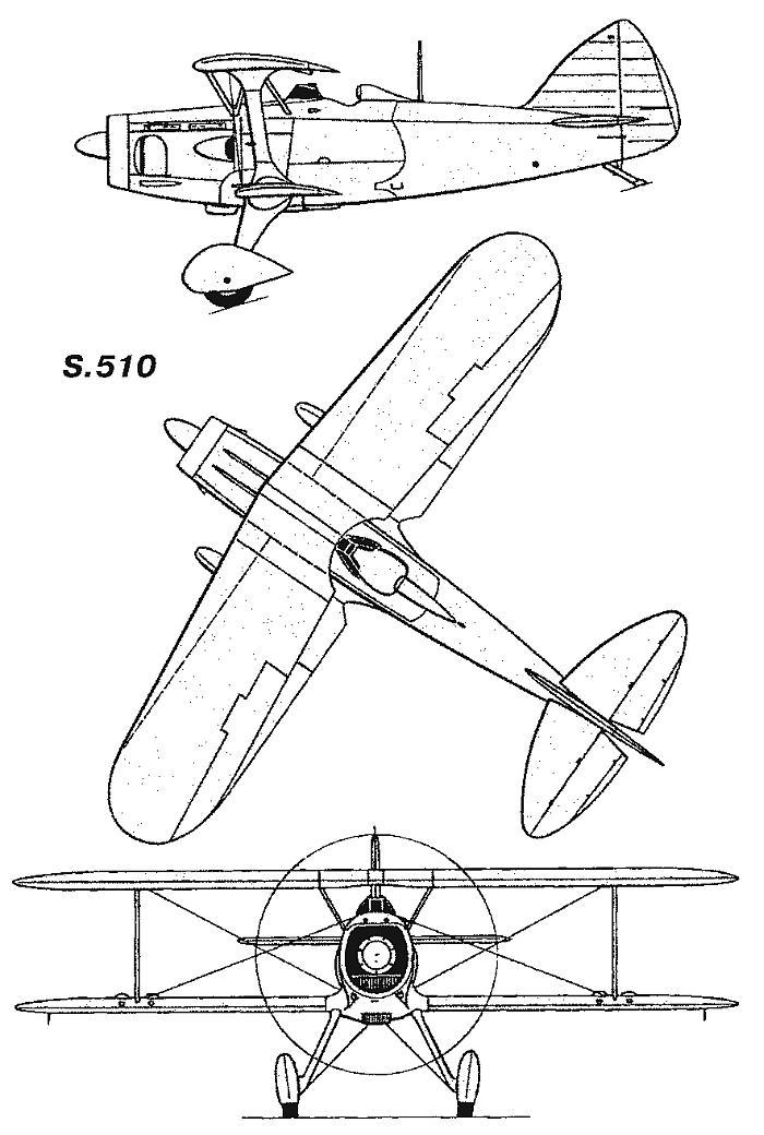 Схемы и чертежи Блерио-СПАД S.