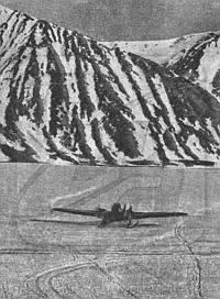 Аварийный АНТ-4 на льду Колючинской губы