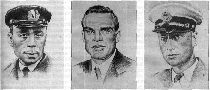 Командированные в Америку Г.А. Ушаков, С.А. Леваневский, М.Т. Слепнев