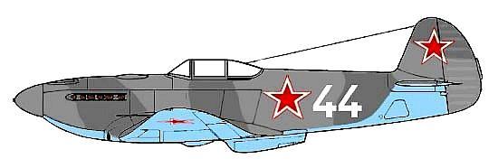 Истребитель Як-3 Жака Андре.  Аэродром Антоново, Сентябрь 1944 г.