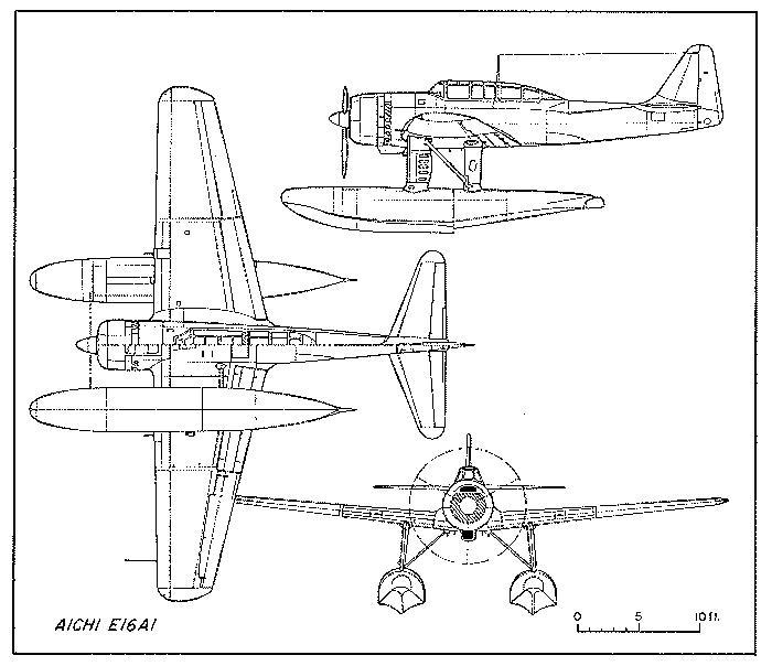 Схемы и чертежи самолета Aichi