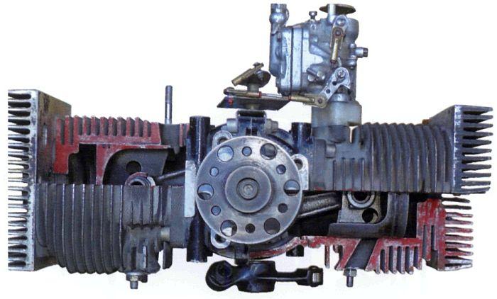 Фото оппозитного поршневого двигателея в разрезе