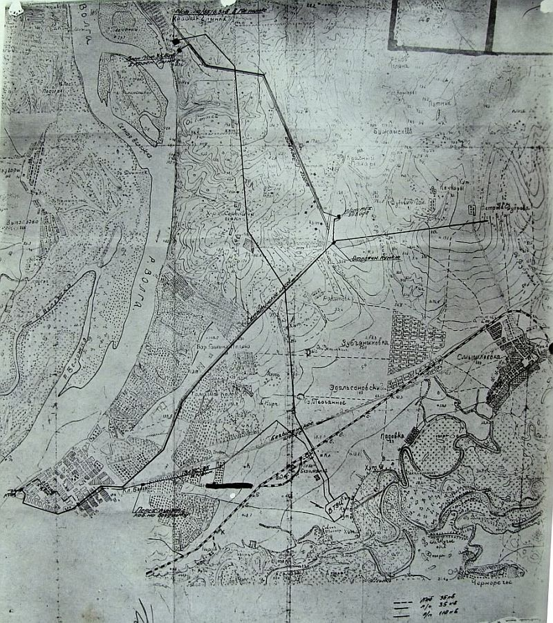 Карта окрестностей Самары 1927 года