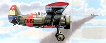 Советский истребитель И-15 - участник боёв в небе Испании