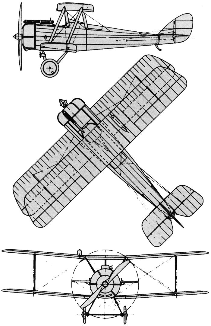 Чертежи Airco De Havilland DH.5