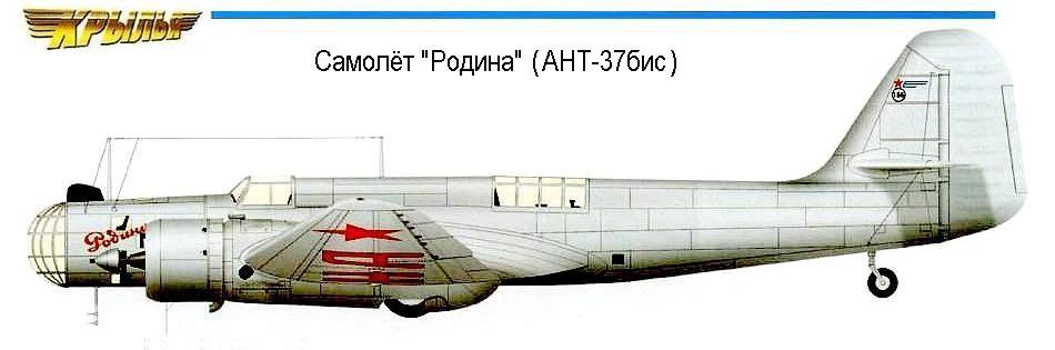 """Самолёт АНТ-37бис """"Родина"""""""